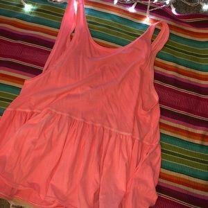 Hot pink free people babydoll tank top